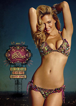 Bar Refaeli posed in swimwear for Agua Bendita
