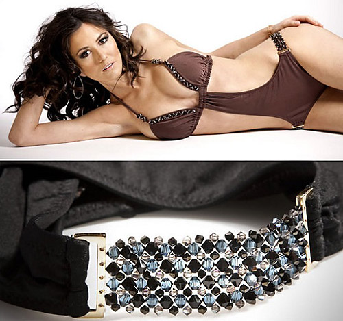 BeachCandy swimwear line studded with Swarovski crystals