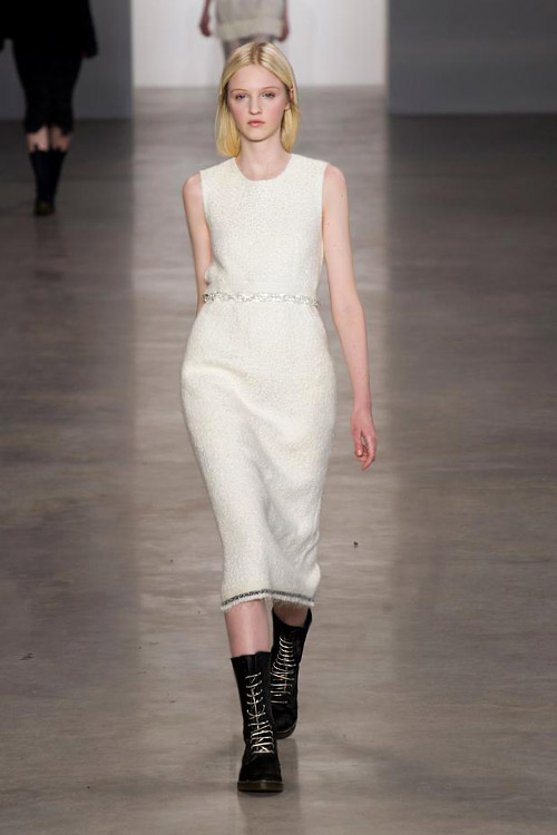 Sweater dresses and coziness for Fall-Winter 2014/2015 by Calvin Klein