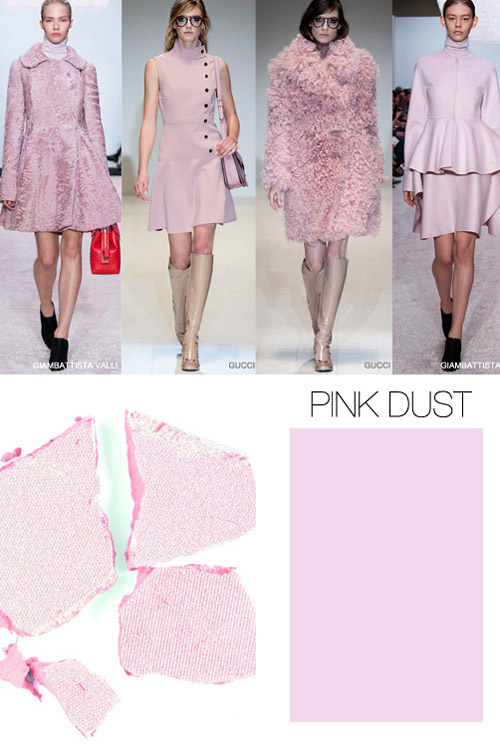 Pink is the key color trend for FallWinter 20152016