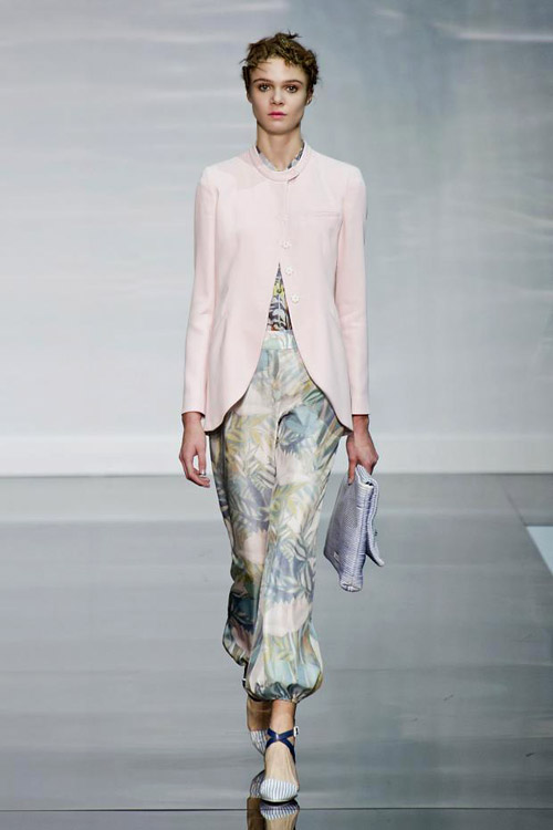 'Water Lilies' by Emporio Armani for Spring-Summer 2014