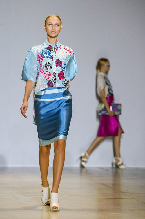 Lie Sang-Bong Spring-Summer 2014 collection during the Paris Fashion Week