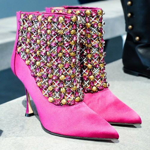 Colorful luxury footwear by Manolo Blahnik for Fall-Winter 2014/2015