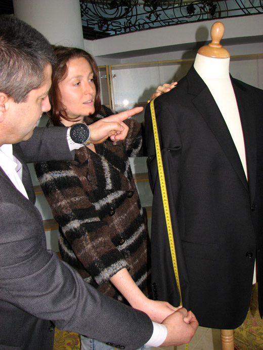 Fashion designer Mariana Razuk, a participant in the Men