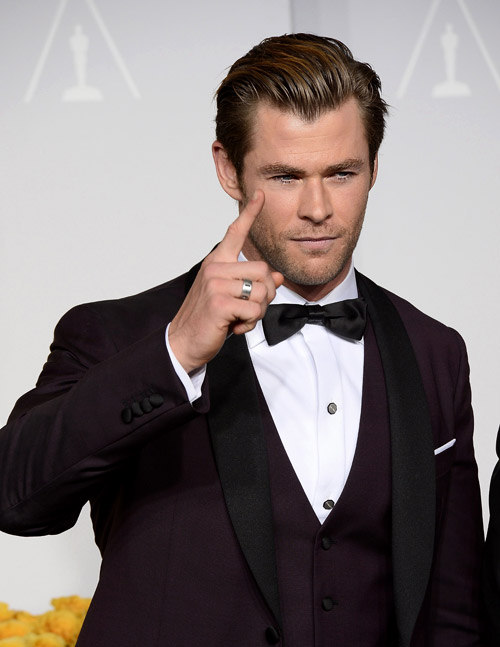 Men's suits at the Oscars 2014 - black or not?