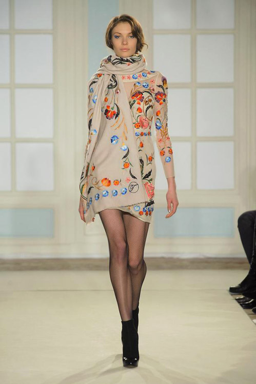 Thigh-high boots and winter florals by Temperley London for Fall-Winter 2014/2015