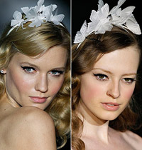 Brides with butterflies in their hair