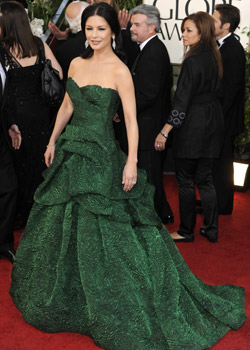 Green dresses fashion trend at 2011 Golden Globes