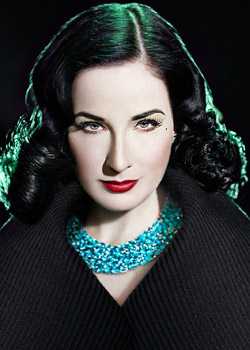 Dita Von Teese does Genlux Magazine Fall 2010 Green photoshoot
