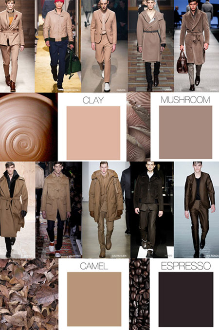 Menswear seasonal color Fall/Winter 2015