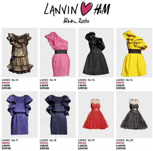 Lanvin for H&M launched on 20 November