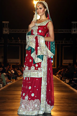 Lahore - the cultural capital of Pakistan presented bridal collections