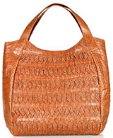 Nancy Gonzalez Woven Crocodile Shoulder Bag