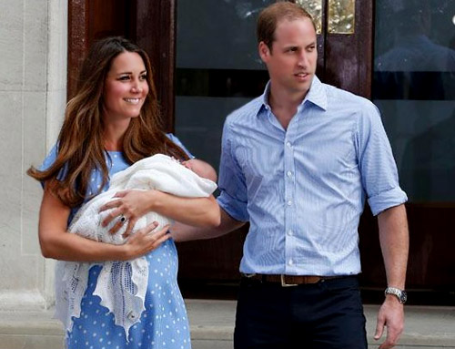 The royal baby came out of the hospital