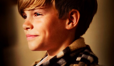 Romeo Beckham is the face of Burberry 2014 Christmas campaign