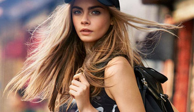 Cara Delevingne with her own collection for DKNY