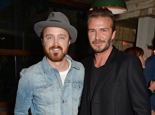 David Beckham and H&M celebrate the launch of debut swimwear collection in London