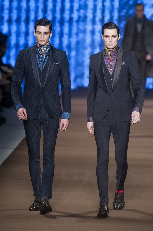 3392cf23c2f48 Men's fashion: Colorful Checks and Paisley print for Fall-Winter 2014/2015  by Etro