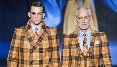 Men's fashion: Colorful Checks and Paisley print for Fall-Winter 2014/2015 by Etro