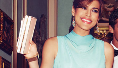 Eva Mendes with a dress collection