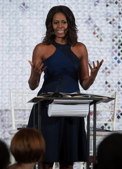 Michelle Obama with first Fashion Education Workshop 'Celebration of Design'