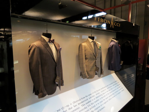 Lanificio F.lli Cerruti created fabrics based on the Fibonacci principle of beauty
