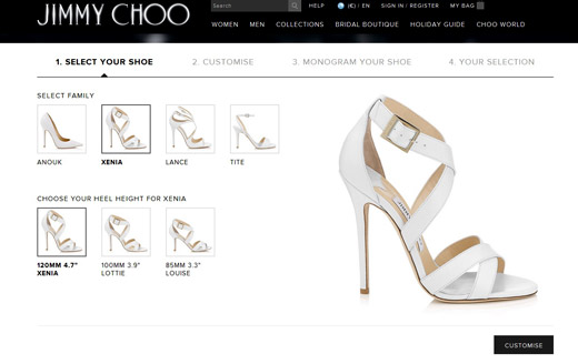 Tailor-made designer shoes by Jimmy Choo