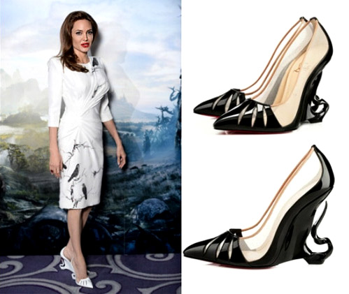 Angelina Jolie works with Christian Louboutin