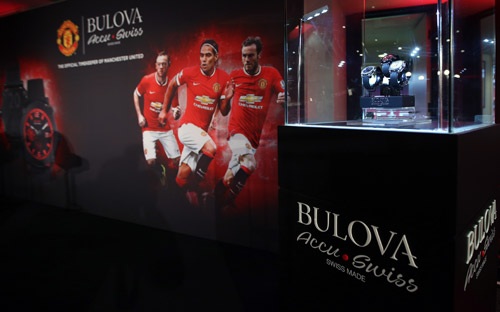 Bulova presented personalized watches to the Manchester United first-team squad