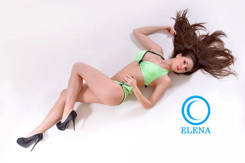 Bikini, handbags and leather belts by Italian brand Elena