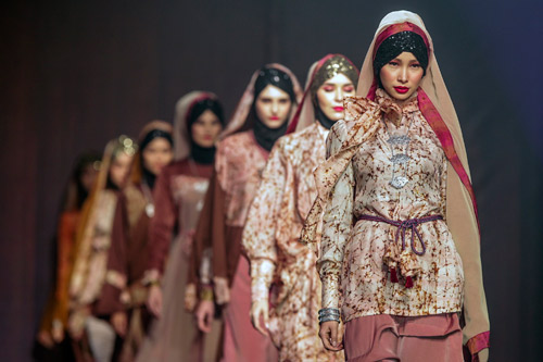 Cancer survivors at Islamic Fashion Festival