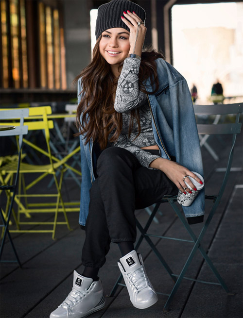 Selena Gomez presents Adidas Neo Fall 2014 collection